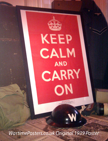 An original Keep Calm and Carry On Poster at WarTimePosters.co.uk